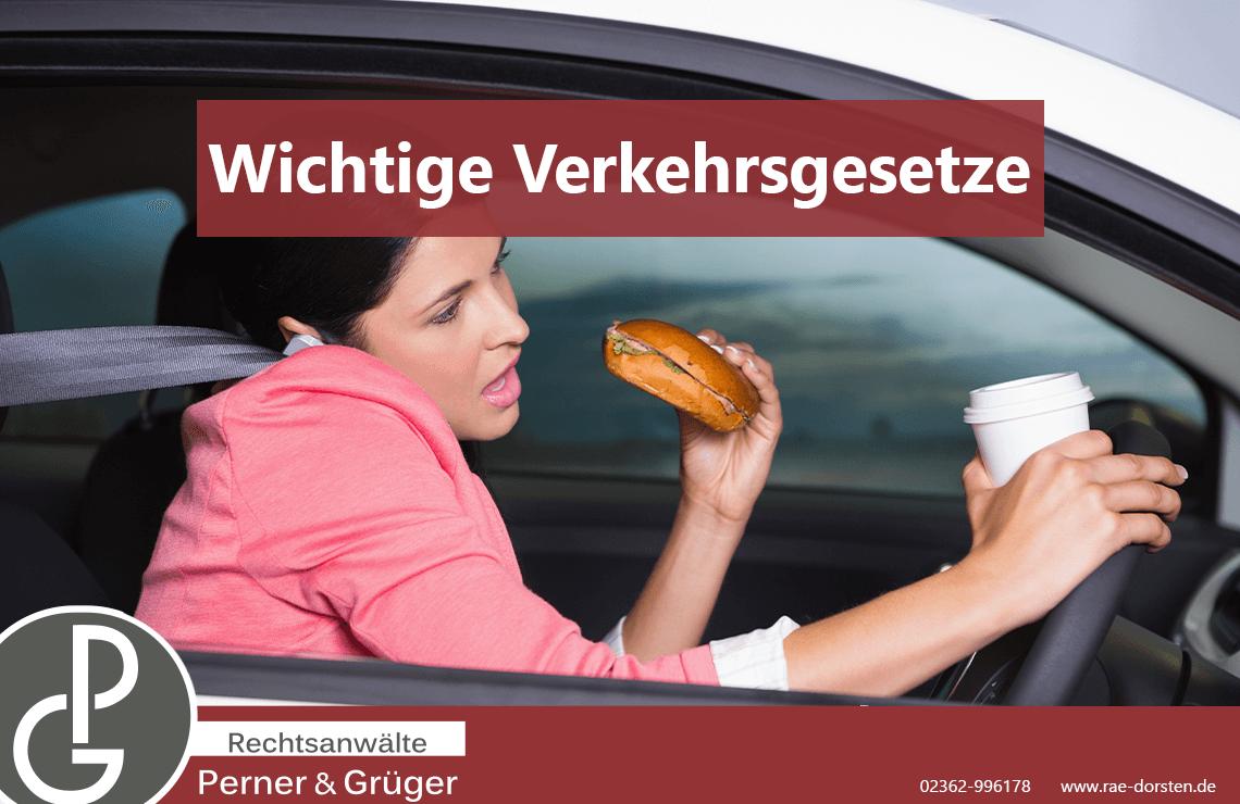 Essen und Rauchen beim Fahren - was sagt die StVO?
