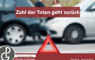 Die Anzahl der Unfälle in Deutschland sinkt